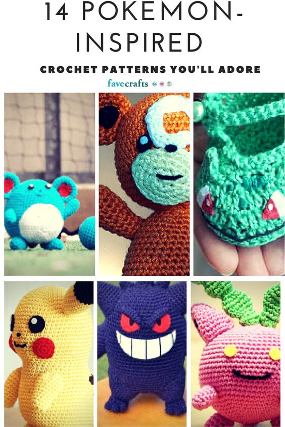Learn how to crochet adorable Pokemon crochet patterns and Pokemon craft ideas with this charming collection.: