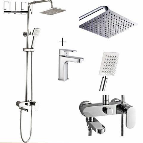 Bathroom Shower Set 8 10 12 Inch Rain Shower Head Bath Shower Mixer With Hand Shower Shower Bath Bath Shower Mixer Shower Remodel