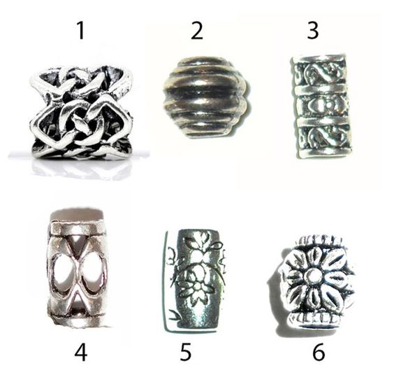 pick style: 6 dread beads