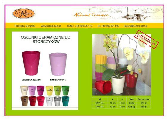 Donice i doniczki ceramiczne, figurki ogrodowe, produkcja ceramiki, producent Zakład Ceramiki Kozera