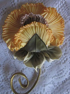 French Ombre Vintage Style Millinery Ribbon Work Flower Pin Holiday Sale 3 Days Only | eBay: