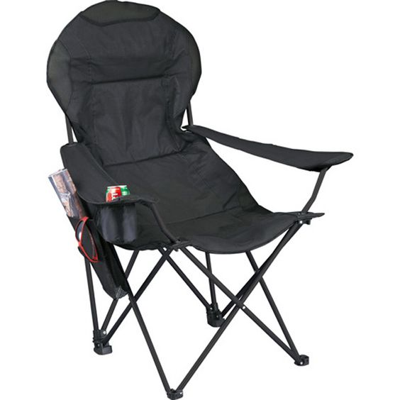 Deluxe Folding Lounge Chair 1070-55 - Camp in ultimate luxury with this deluxe chair. Features a padded seat and chairback giving you extreme comfort with a built-in mesh head rest for ventilation. Includes cupholder and detachable valuables pocket. Made of 600 denier polycanvas and mesh. #propelpromo