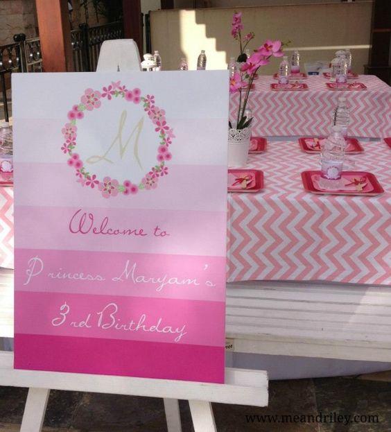 princess party sign