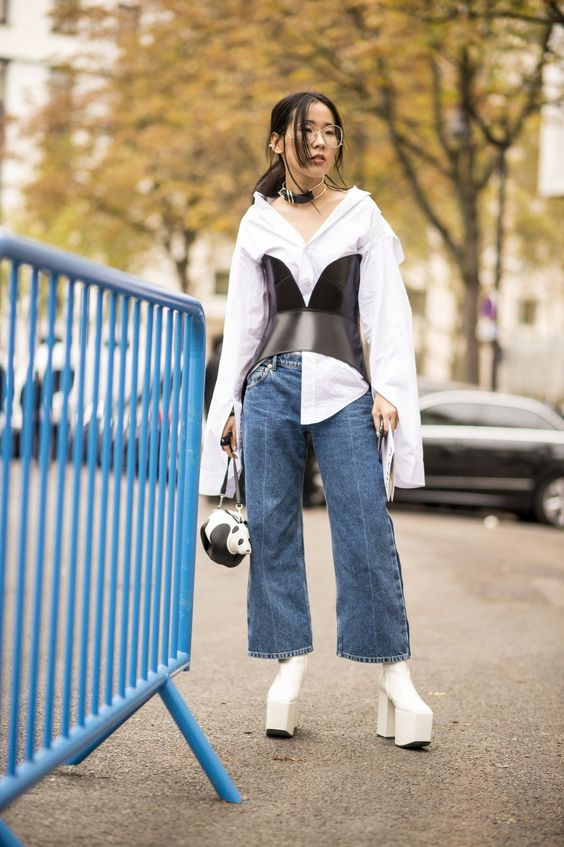 2017 is all about making a statement and that doesn't exclude your work shirts! #fashion #trends #shirt #asian #girl #outfit