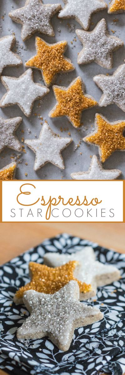 This recipe for Espresso Star Cookies takes sugar cookies up a notch! With strong coffee flavor and understated sweetness, they'll put a spring in your step. They taste delicious simple and unadorned, but jazzed up with icing and glittery sprinkles, they're perfect party treats!