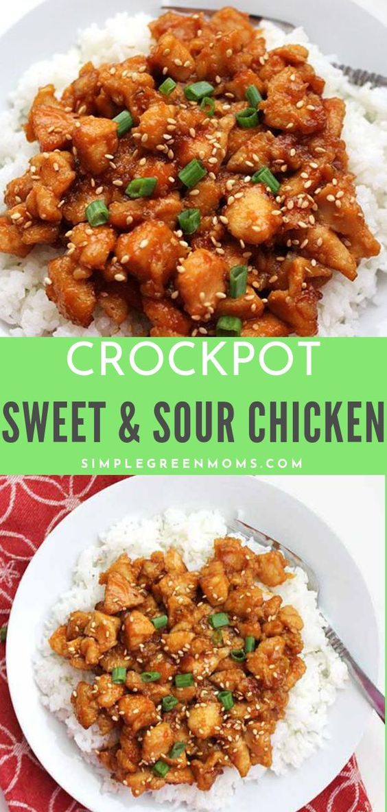 Crockpot Sweet & Sour Chicken Recipe