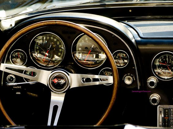 dashboard interior of vintage classic car. Cars Review. Best American Auto & Cars Review