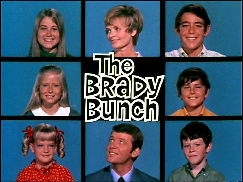 The Brady Bunch (one of TV's first blended families) - 10 of Cups, reversed http://janetboyer.com/Tarot-in-Reverse.html