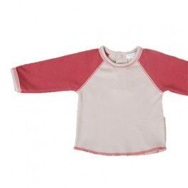 Camiseta para bebé de manga larga de algodón orgánico de la marca Kiraw.