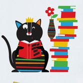 Found it at Wayfair - Piccolo Smarty Cat Wall Decal