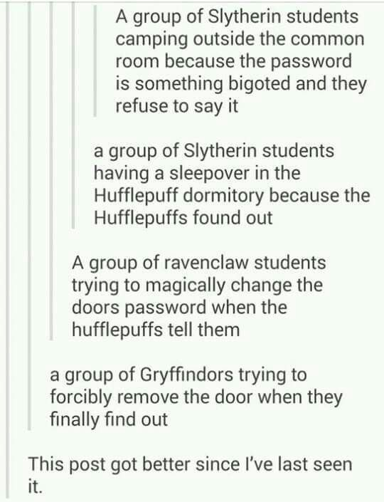 difference between hufflepuff and slytherin relationship