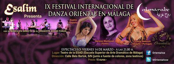 Cartel del festival ALMÁRABE 2014, del 14 al 16 de marzo. Toda la info en www.esalimdanza.com