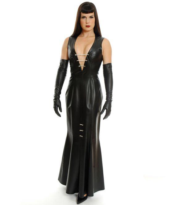 Bildergebnis für Leather Gown | Leren kleding | Pinterest | Gowns ...