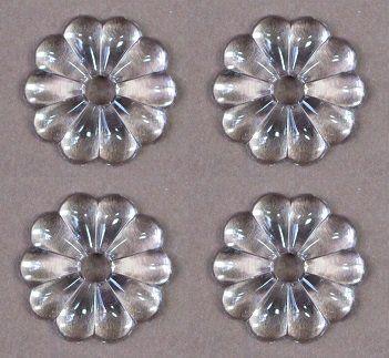 4 Stück Kristall Glas Rosetten 25mm - Mittelloch 5mm - für Maria Theresia Leuchter Schraubbefestigung - Kronleuchter - Bastelarbeiten: Amazon.de: Küche & Haushalt