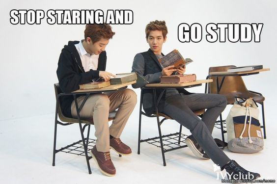 BAEKYEOL~!! keke but Baekhyun~ I can't stop staring because you guys are so gorgeous~ but i would study if you let me sit beside you right there kekeke & you & Yeollie could tutor me~!!! keke