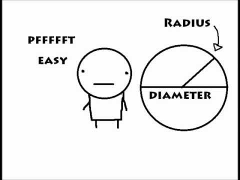 how to find radius and diameter with area