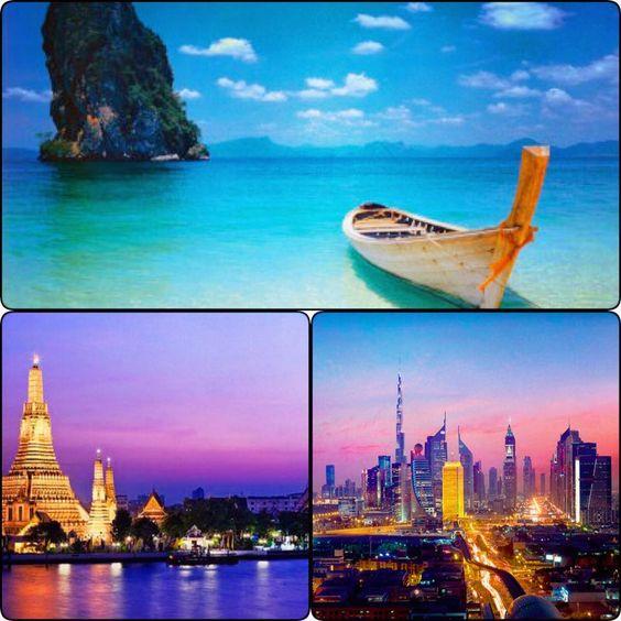 Per il tuo Viaggio di Nozze scegli luci colori e fascino di tre splendide mete: La maestosità di DUBAI, i colori e la frenesia di BANGKOK, i paesaggi e la luce di PHUKET. Dubai + Bangkok + Phuket.  14 notti speciale luglio 2016.  Volo+Hotel 4/5stelle. Per preventivi su misura: viaggidelmilione@gmail.com