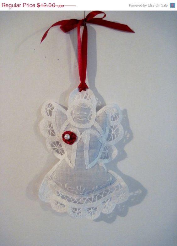 ON SALE Christmas Angel Lavender Sachet by RedesigningVintage