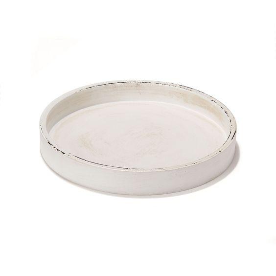 Coupe blanche 22cm de diam tre blanc plate les objets for Objets decoratifs salon