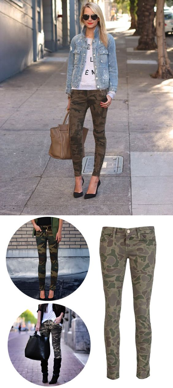 Camo Skinny Pants/Jeans. i want camo to come back!!! yes!