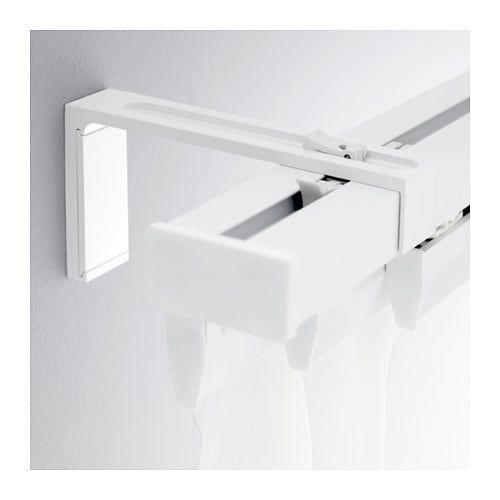 Vidga Wall Bracket White 4 Ikea Curtain Rods Cool