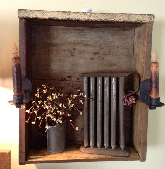 Hanging Drawer With Antique Candle Mold Our Little