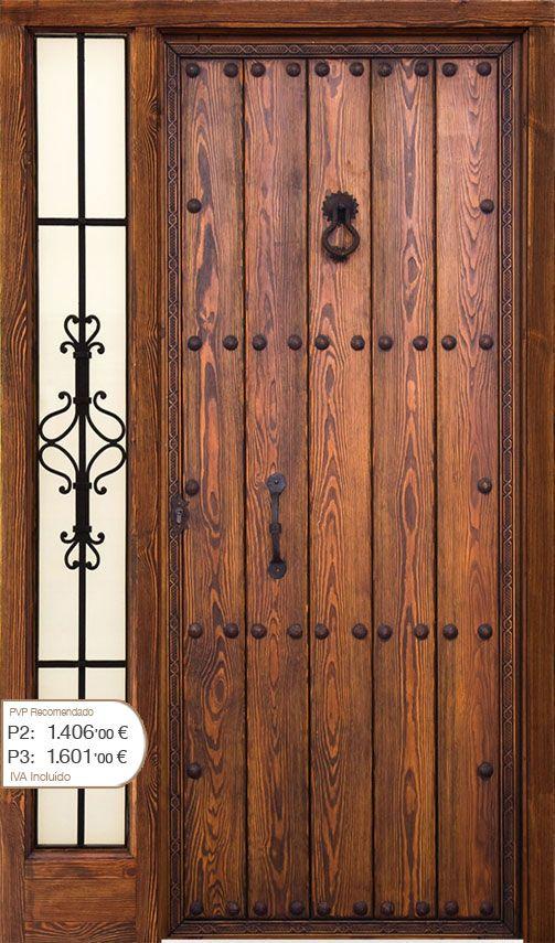 Puertas on pinterest for Puertas principales de madera rusticas