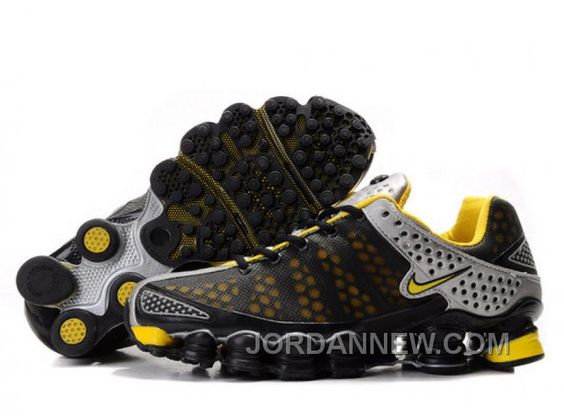 nike shox yellow and black