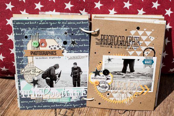SCRAP KITS & CO: SKC Kit Juillet - Mini Album Week end au Mont Saint Michel by Maska - Partie 1