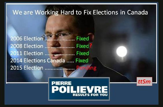 Canada's Conservative party, working hard to fix elections since 2006
