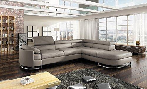 Bmf Ice Light Grey Modern Corner Sofa Chrome Legs Bed Storage Faux Le Josef S Furniture Modern Room Furniture Design Living Room Living Room Sofa Set