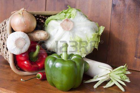 canasta de verduras: Cesta vegetal