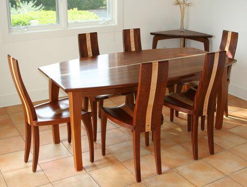 Custom Made Modern Wood Dining Table Solid Mahogany Boat Shape Oval Beetleback Wood Dining Table Modern Dining Table Oval Table Dining