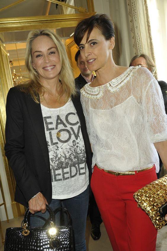 Sharon Stone and Ines de la Fressange