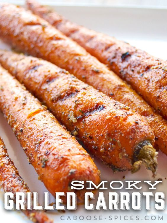 Smoky Grilled Carrots | Paleo Side Dishes | Caboose Spice & Co