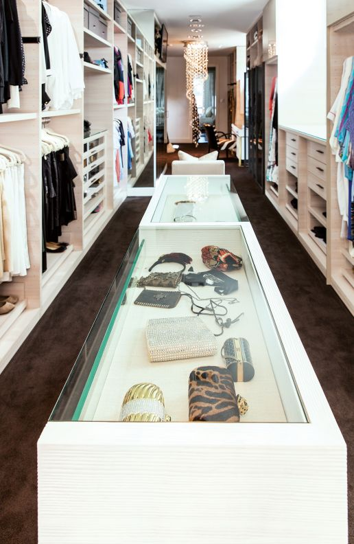 Closet islands and display on pinterest for Closet island with glass top