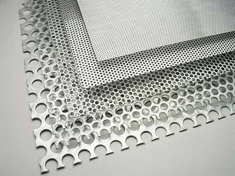 Five Different Density Perforated Sunshade Panels Have No Margin From Top To Bottom Density Decreased Aluminum Sheet Metal Perforated Metal Metal Mesh Screen