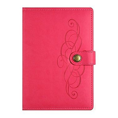Markings Leatherette Ruled Journal, Pink