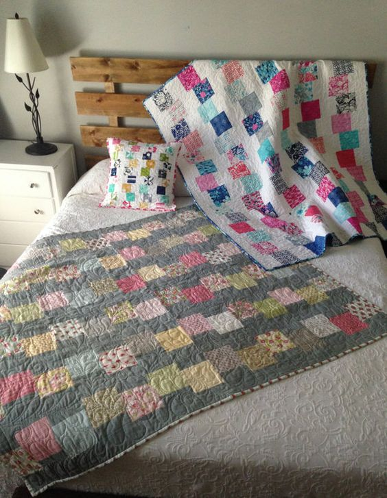 block quilt building blocks and charm pack on