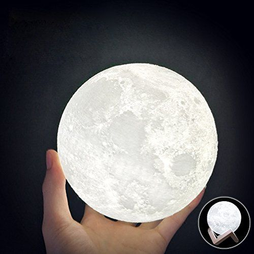 Halova Wch8141 Night Light 3d Printing Moon Lamp Lunar U Https Www Amazon Com Dp B01n3p9zi0 Ref C Unique Night Lights Moon Light Lamp Nursery Night Light