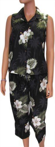 59 95 Women S Capri Set Nice Tropical Print Perfect For