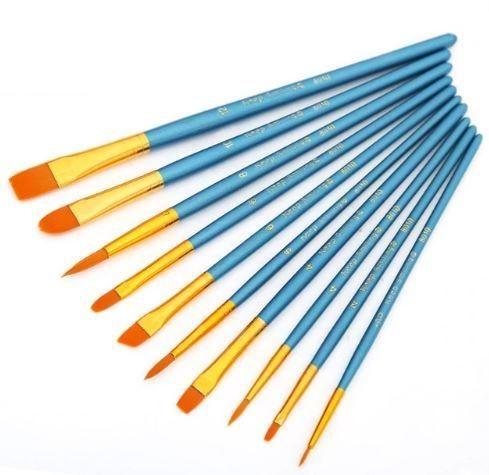 10 Pcs Watercolor Brushes Watercolor Paint Brush Set Nylon Hair Artist Acrylic Brush for Watercolor Oil Painting