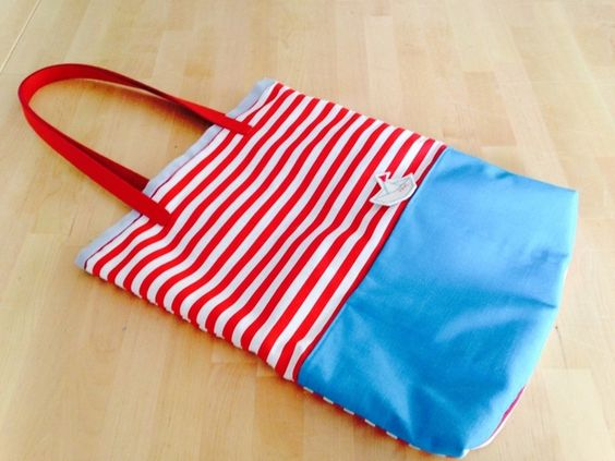 Canvastaschen - Schultertasche Ahoi - ein Designerstück von Gluecksbringerin bei DaWanda