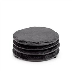 Slate Coasters Round - Set of 4