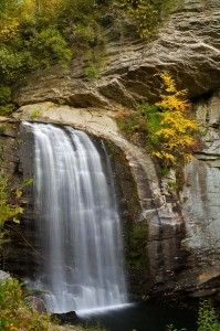 Looking Glass Falls, Pisgah Nationanal Forest, Blue Ridge mountains in NC <3