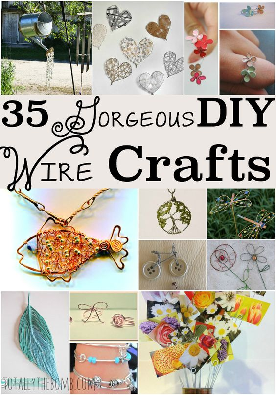 35 gorgeous diy wire crafts gardens crafting and beautiful for Very simple wire craft projects
