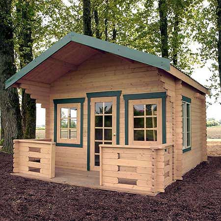 Backyards cabin and prefab cabins on pinterest for Small prefab cottages for sale