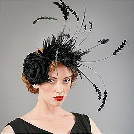 Design by Louise Green   • Fabric: Feather, Silk Flower  • Colors: Black