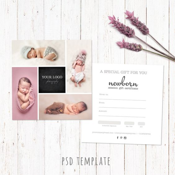 Photography Gift Card Template - Gift Certificate Marketing - photography gift certificate template