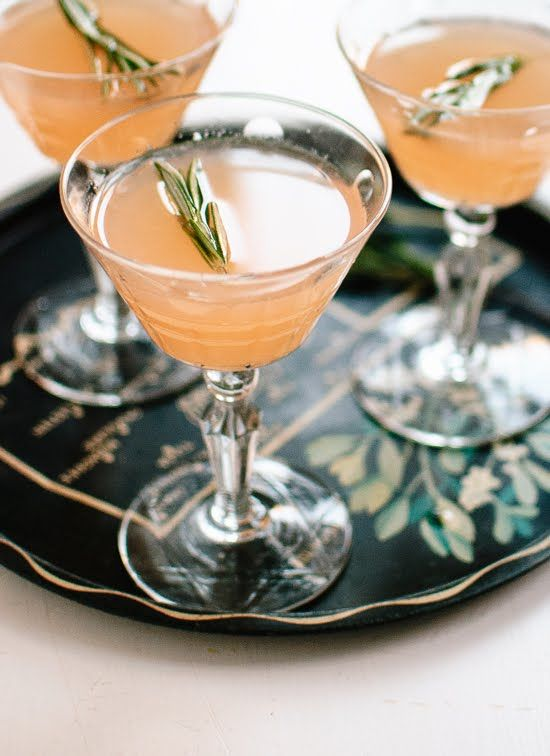 Ruby red and rosemary honey cocktail recipe